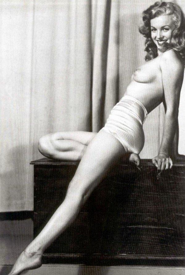 Голая Мэрилин Монро  Фейк и фото голых знаменитостей