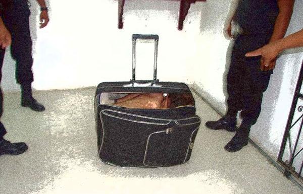 Жена в чемодане