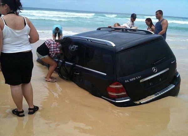 Мерс на пляже