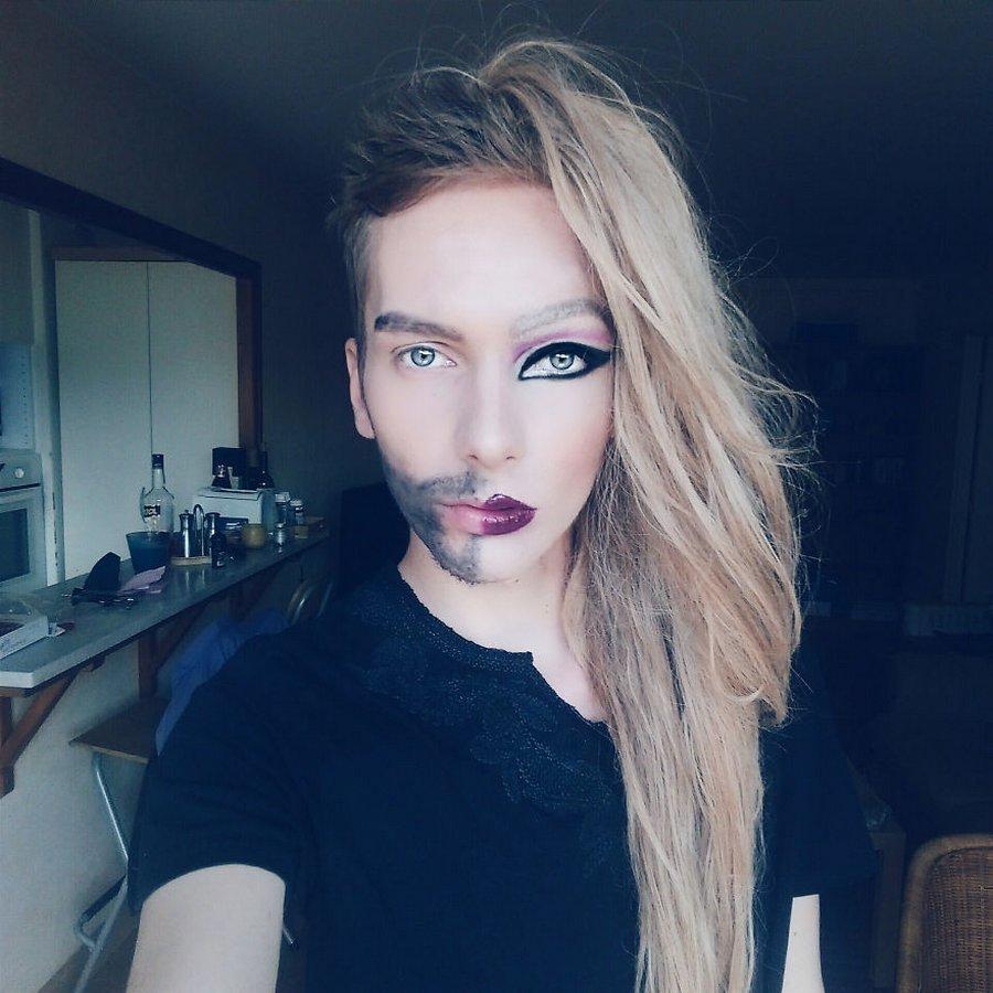 Из девушки в парня макияж
