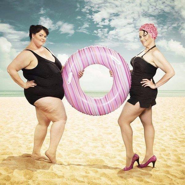 Толстая и похудевшая
