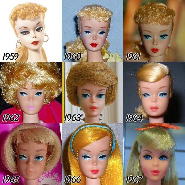 Как менялась кукла Барби