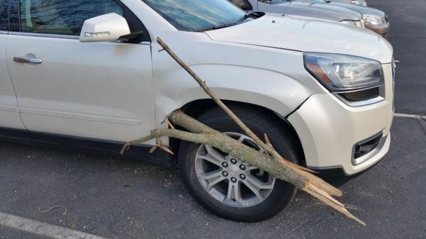 Машина на палочке