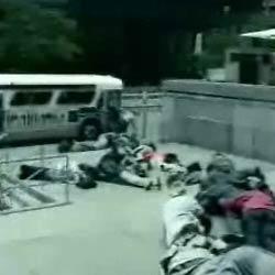 Человеческое домино - Видеоприколы