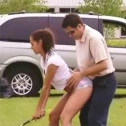 Сексуальный инструктор по гольфу  - Видеоприколы
