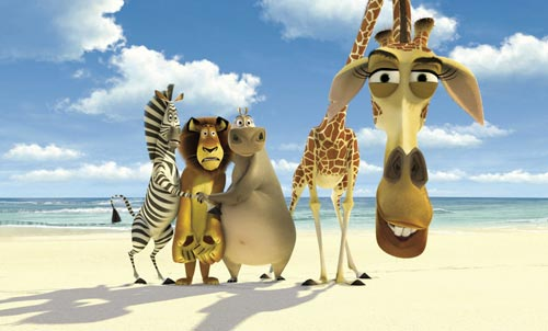 Мадагаскар - красивые мультяшные обои